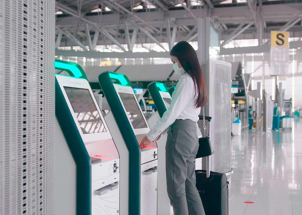 Simply past check-in kiosk
